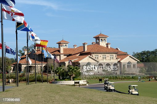 TPC Golf Course Club House & Flags