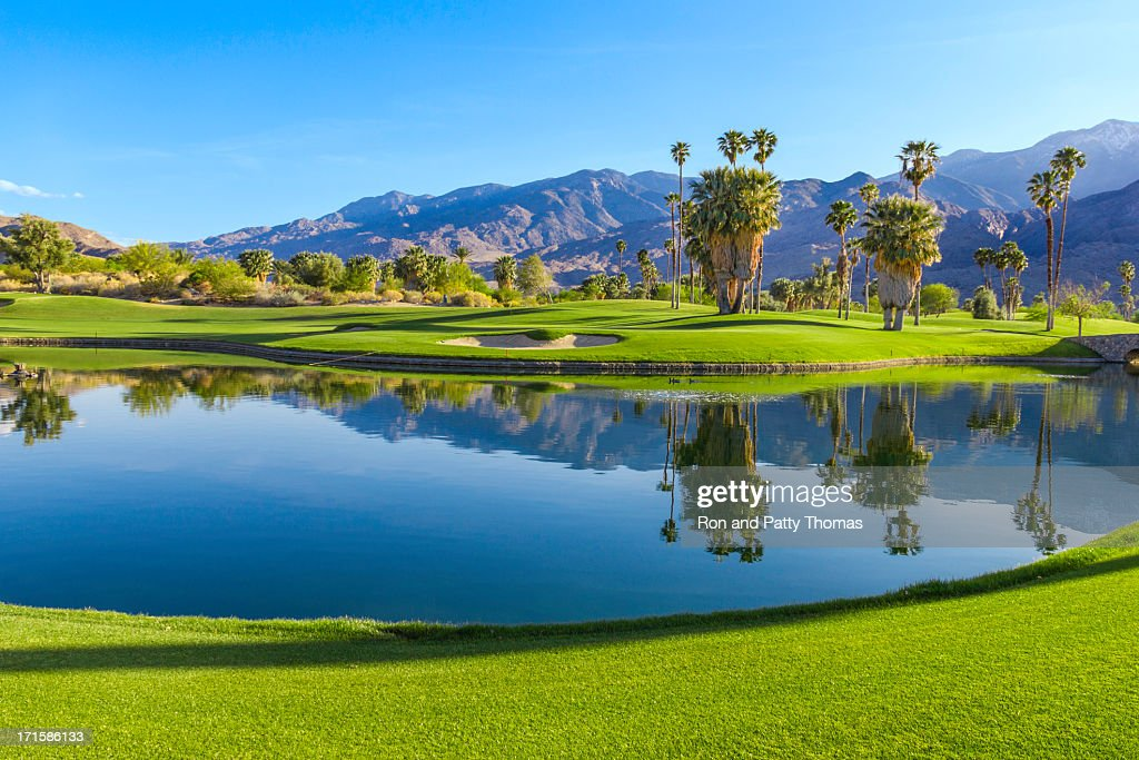 Golf course in Palm Springs, California (P)