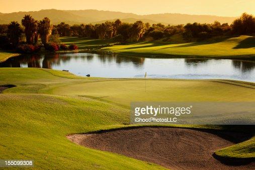 Golf Course Landscape at Sunrise