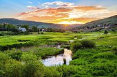 Jeremy Ranch Golf Course Sunset, Park City, Utah