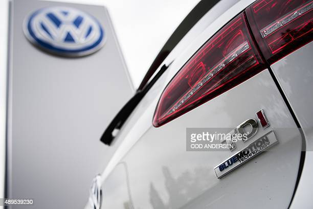 A Golf diesel car is seen at a Volkswagen dealer in Berlin on September 22 2015 In an affair that originally broke on Friday and has unfolded rapidly...