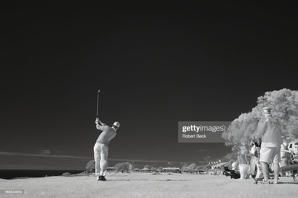 Infrared view of Tiger Woods in action during Monday play at Torrey Pines GC. Scenic. Robert Beck F16 )