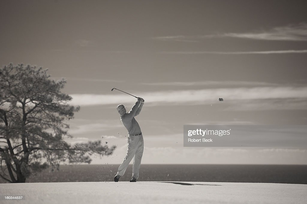 Infrared view of Tiger Woods in action during Monday play at Torrey Pines GC. Scenic. Robert Beck F59 )
