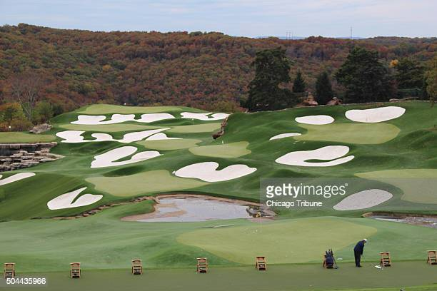 Golf great Arnold Palmer who obviously loves sand designed the driving range at Top of the Rock a resort/golf/museum complex developed by Johnny...
