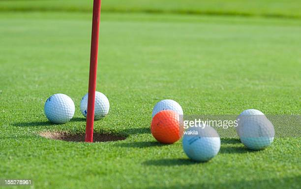 golf - green and flag