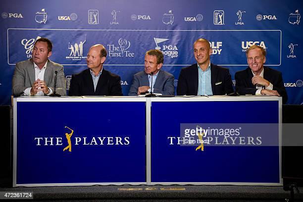 Golf industry leaders from left LPGA Commissioner Mike Whan USGA Executive Director Mike Davis PGA TOUR Commissioner Tim Finchem PGA of America Chief...