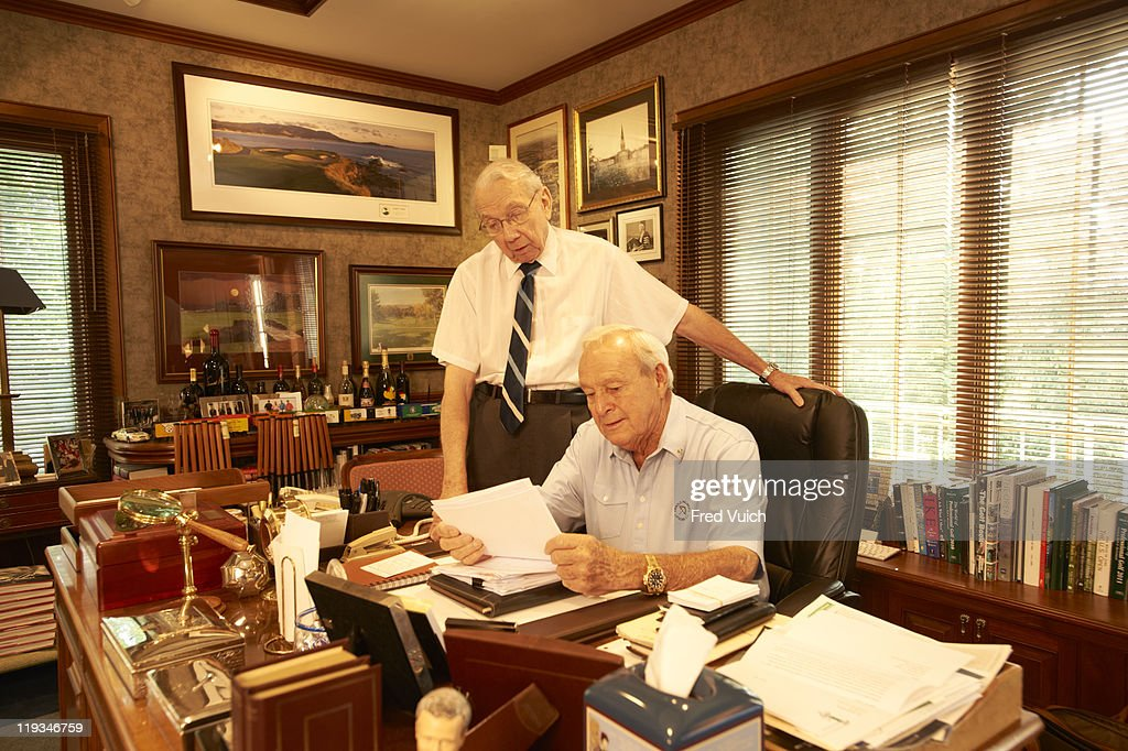 portrait of arnold palmer with his personal assistant donald doc giffin during photo shoot golf - Golf Assistant Jobs
