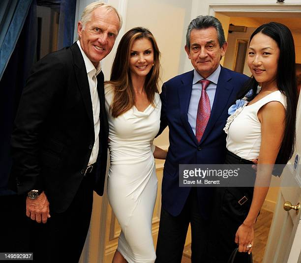 Golf legend Greg Norman wife Kirsten Kutner OMEGA President Stephen Urquhart and guest attend Golf Day at OMEGA House OMEGA's official residence...