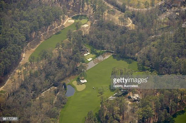 Masters Preview Scenic aerial view of Amen Corner No 11 green No 12 hole and No 13 tee box at Augusta National Augusta GA 3/20/2010 CREDIT Sports...