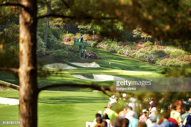 Masters Preview Scenic view of No 12 green and No 13 tee before Par 3 Tournament on Wednesday at Augusta National Augusta GA CREDIT Kohjiro Kinno