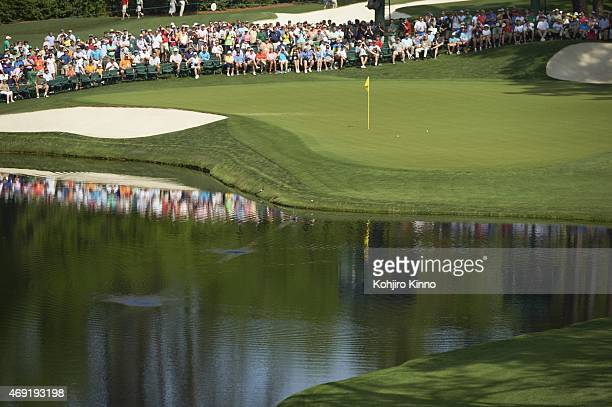Masters Preview Scenic view of No 16 green before Par 3 Tournament on Wednesday at Augusta National Augusta GA 4/8/2015 CREDIT Kohjiro Kinno