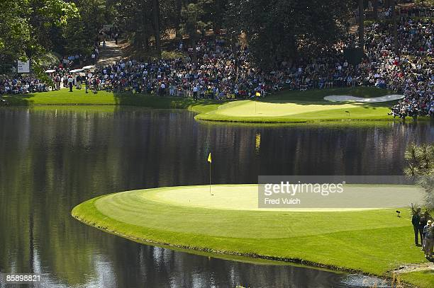 Masters Preview Scenic view of No 8 green and No 9 green during Wednesday Par 3 Contest at Augusta National Augusta GA 4/8/2009 CREDIT Fred Vuich