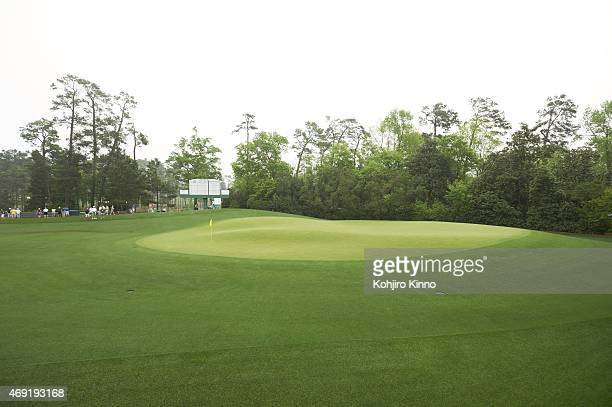 Masters Preview View of No 5 green before Par 3 Tournament on Wednesday at Augusta National Scenic Augusta GA 4/8/2015 CREDIT Kohjiro Kinno