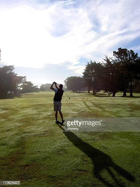 Golf mattina silhouette