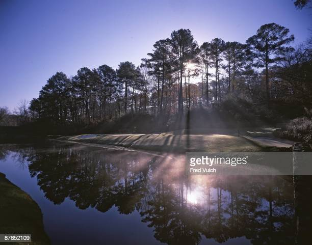 Panoramic scenic view of No 12 at Augusta National Amen Corner Augusta GA 12/9/1991 CREDIT Fred Vuich
