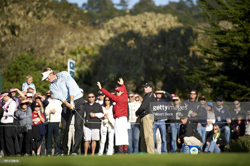 Brandt Snedeker in action, drive during Sunday play at Pebble Beach Golf Links. Robert Beck F55 )