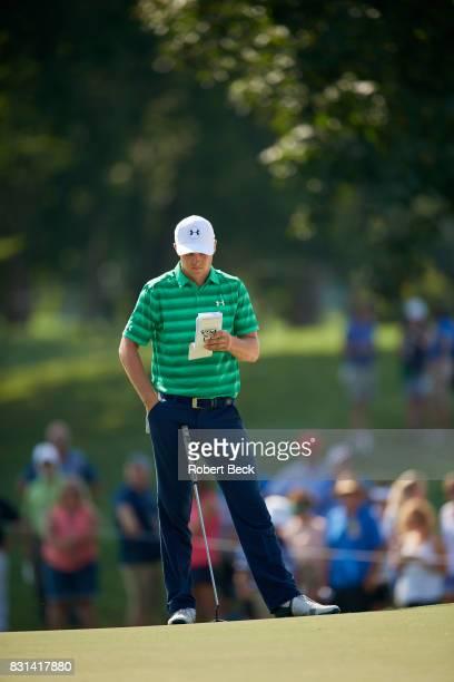 PGA Championship Jordan Spieth during Thursday play at Quail Hollow Club Charlotte NC CREDIT Robert Beck