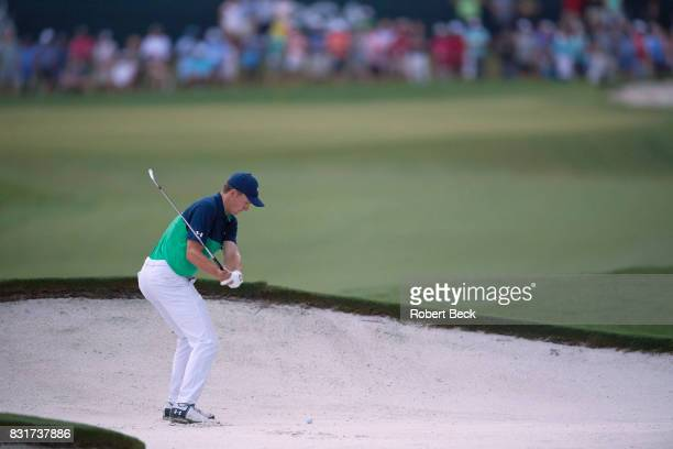 PGA Championship Jordan Spieth in action during Friday play at Quail Hollow Club Charlotte NC CREDIT Robert Beck
