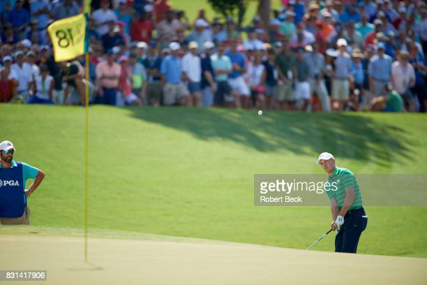 PGA Championship Jordan Spieth in action during Thursday play at Quail Hollow Club Charlotte NC CREDIT Robert Beck