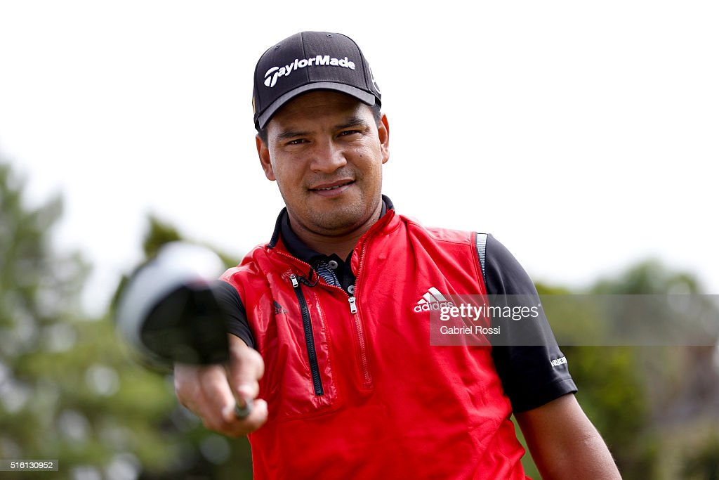 Golf player Fabian Gomez of Argentina poses during a photo session at Pilar Golf Club on March 11 2016 in Pilar Buenos Aires Argentina P