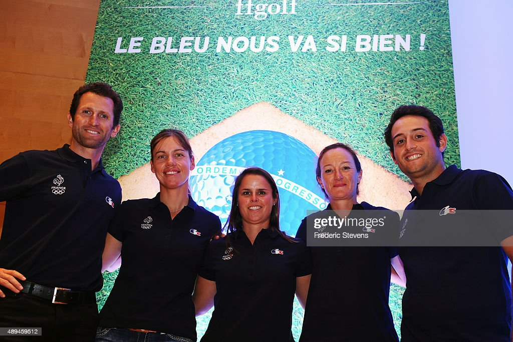 French Golf Federation Gives A Press Conference for the return of Golf In the Olympic Games 2016 in Rio