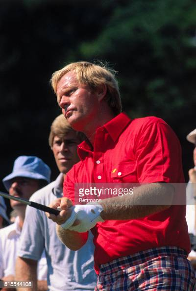 Golf pro Jack Nicklaus during the first round of the US Open at Ardmore Pennsylvania