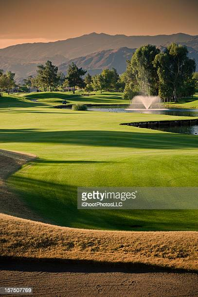 Golf Scenic at Sunset