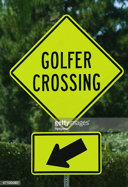 Golf Sign- Golfer Crossing