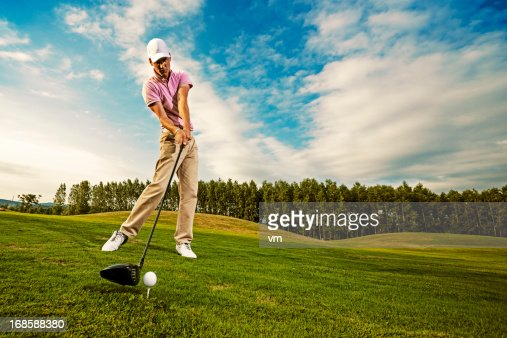 Golf Swing Just Before Impact