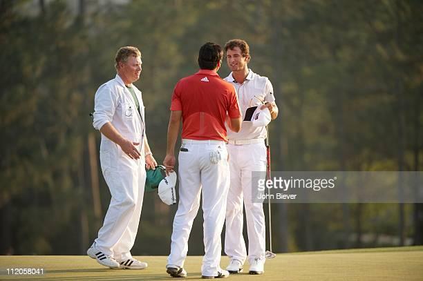 The Masters Adam Scott and Jason Day during Sunday play at Augusta NationalAugusta GA 4/10/2011CREDIT John Biever