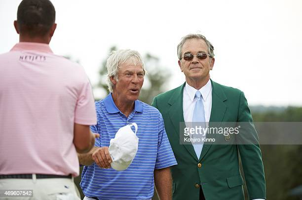 The Masters Ben Crenshaw with Augusta National chairman Billy Payne during Friday play at Augusta National Crenshaw played in his final Masters after...