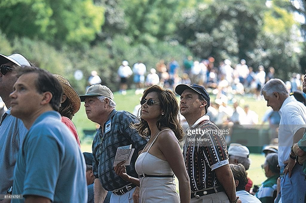The Masters, Brandel Chamblee's father Harrel, wife Karen, and brother-in-law Mark Summey watch Saturday play at Augusta National, Augusta, GA 4/10/1999
