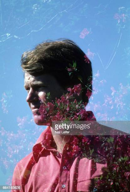 The Masters Double exposure of azaleas and Tom Watson during Saturday play during tournament at Augusta National Augusta GA CREDIT Neil Leifer