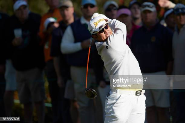 The Masters Hideki Matsuyama in action drive during Friday play at Augusta National Augusta GA CREDIT Al Tielemans