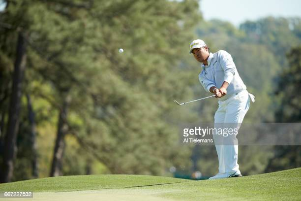The Masters Hideki Matsuyama in action during Friday play at Augusta National Augusta GA CREDIT Al Tielemans