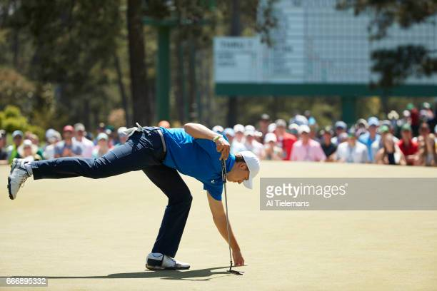 The Masters Jordan Spieth during Sunday play at Augusta National Augusta GA CREDIT Al Tielemans