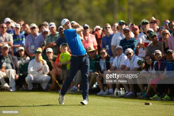 The Masters Jordan Spieth in action drive during Sunday play at Augusta National Augusta GA CREDIT Erick W Rasco