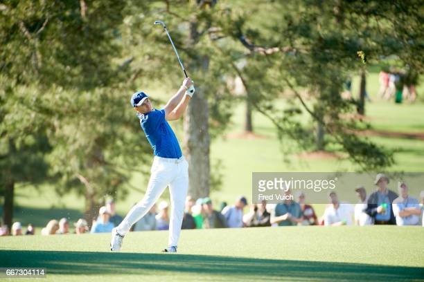 The Masters Jordan Spieth in action during Saturday play at Augusta National Augusta GA CREDIT Fred Vuich
