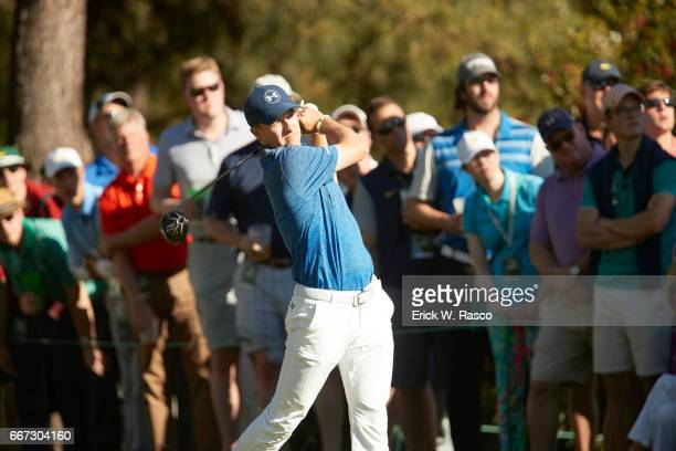 The Masters Jordan Spieth in action during Saturday play at Augusta National Augusta GA CREDIT Erick W Rasco