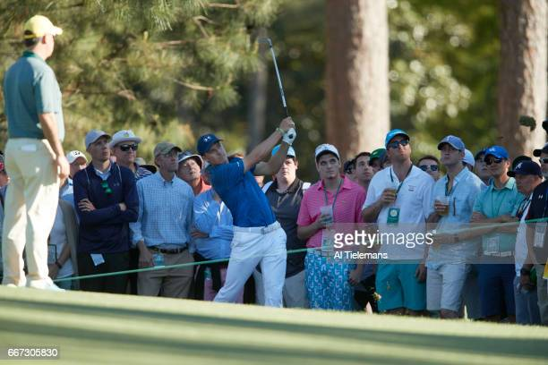 The Masters Jordan Spieth in action during Saturday play at Augusta National Augusta GA CREDIT Al Tielemans