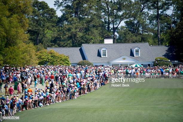 The Masters Jordan Spieth in action on No 1 tee during Sunday play at Augusta National Augusta GA CREDIT Robert Beck
