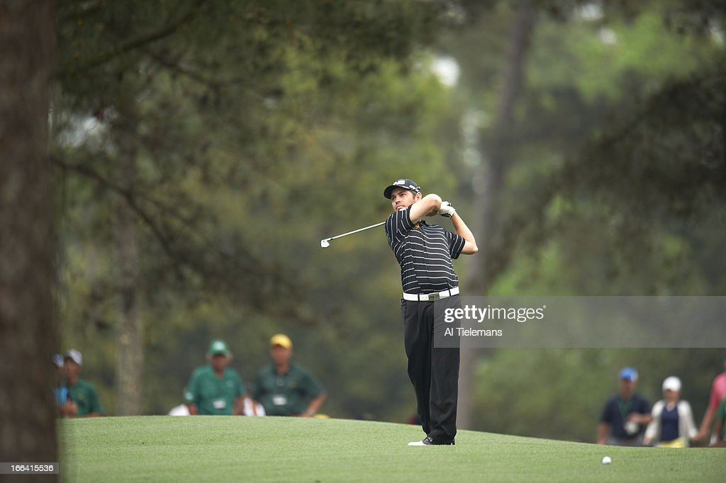 Louis Oosthuizen in action on Thursday at Augusta National. Al Tielemans F76 )