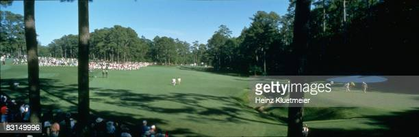 The Masters Panoramic and scenic view of No 13 final leg of Amen Corner during Sunday play at Augusta National Augusta GA 4/13/1997 CREDIT Heinz...