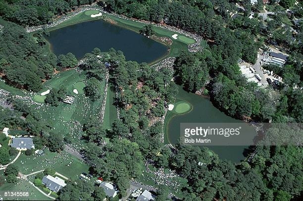 Golf The Masters Scenic and aerial view of Ike's Pond during Thursday play at Augusta National Augusta GA 4/6/2000