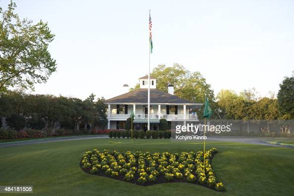 The Masters Scenic view of clubhouse during Friday play at Augusta National Augusta GA CREDIT Kohjiro Kinno