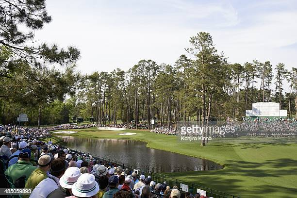 The Masters Scenic view of No 16 green during Friday play at Augusta National Augusta GA CREDIT Kohjiro Kinno