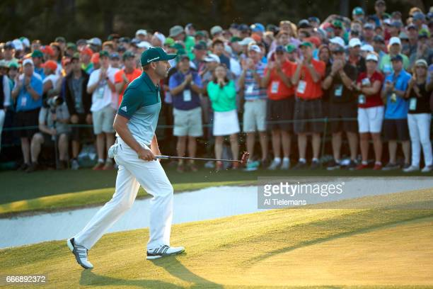 The Masters Sergio Garcia during Sunday play at Augusta National Augusta GA CREDIT Al Tielemans