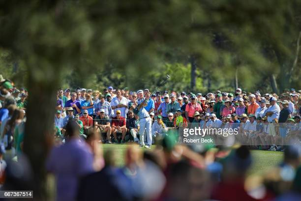 The Masters Sergio Garcia in action drive from No 8 tee during Sunday play at Augusta National Augusta GA CREDIT Robert Beck
