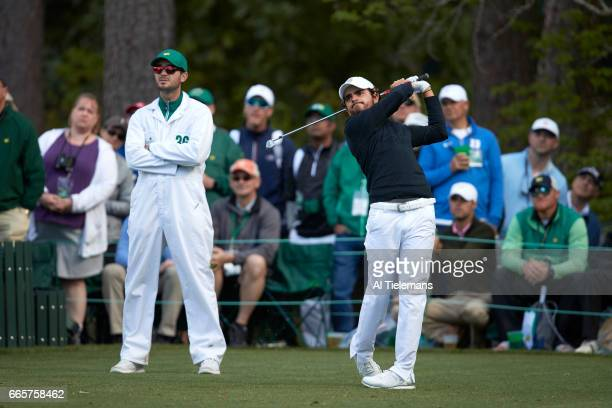 The Masters Toto Gana in action during Thursday play at Augusta National Augusta GA CREDIT Al Tielemans
