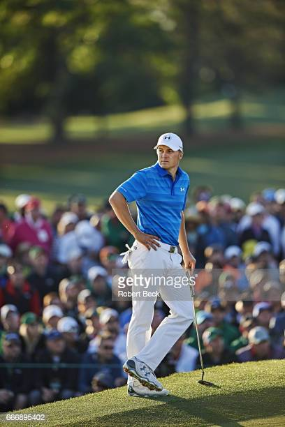 The Masters View of Jordan Spieth during Sunday play at Augusta National Cover Augusta GA CREDIT Robert Beck